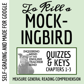 To Kill a Mockingbird Quiz (Chapters 1-3)