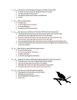 To Kill a Mockingbird Quiz: Chapters 11-20