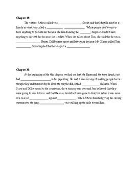 To Kill a Mockingbird Quiz Chapters 17-20
