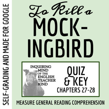 To Kill a Mockingbird Quiz (Chapters 27-28)