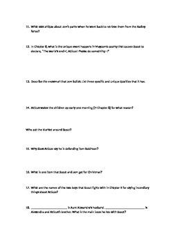 To Kill a Mockingbird Quiz Part One