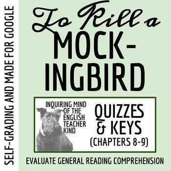 To Kill a Mockingbird Quiz (Chapters 8-9)