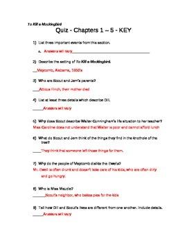 To Kill a Mockingbird Quizzes