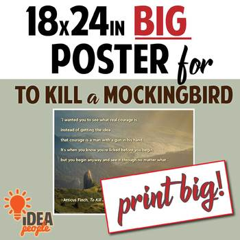 """To Kill a Mockingbird Quote: Atticus on Courage - BIG POSTER 18x24"""" printable"""