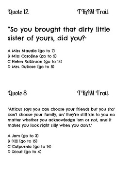 To Kill a Mockingbird Quote Trail Review