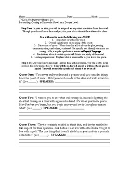 To Kill a Mockingbird Quotes and Language Prereading