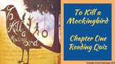 To Kill a Mockingbird Reading Quiz Chapter One