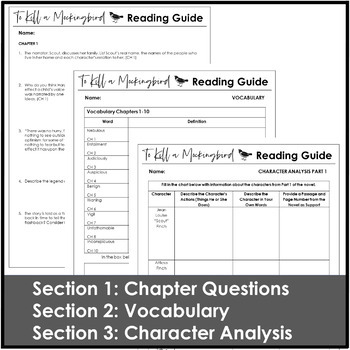 To Kill a Mockingbird Reading Guide With Engaging Activities and Questions