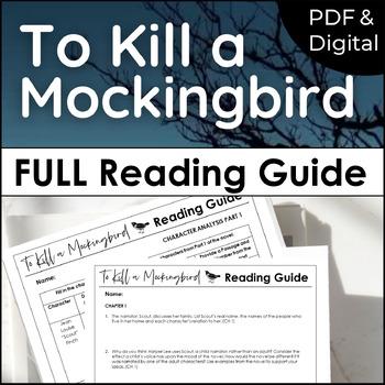 To Kill a Mockingbird Reading Guide {Study Guide}