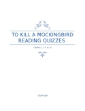 To Kill a Mockingbird Reading Quiz Bundle