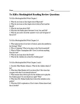 To Kill a Mockingbird Reading Review