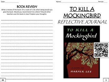 """To Kill a Mockingbird"" Reading Analysis Journal"