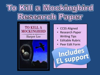 To kill a mockingbird research paper