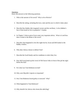 To Kill a Mockingbird Review Guide