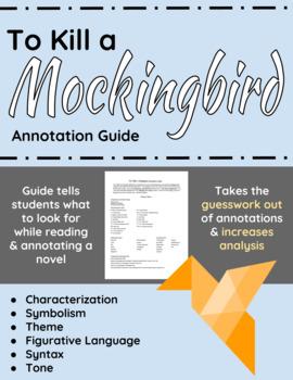To Kill a Mockingbird Annotation Guide