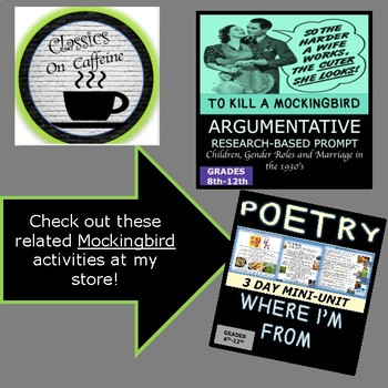 To Kill a Mockingbird: SCRIPT MEGA BUNDLE!