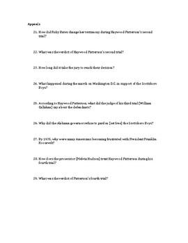 To Kill a Mockingbird: Scottsboro Boys Questions
