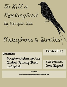 To Kill a Mockingbird Simile and Metaphor Activity