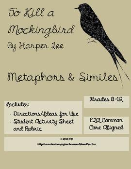 To Kill a Mockingbird Simile and Metaphor Activity