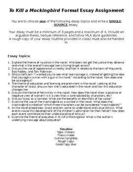 to kill a mockingbird single source essay assignment