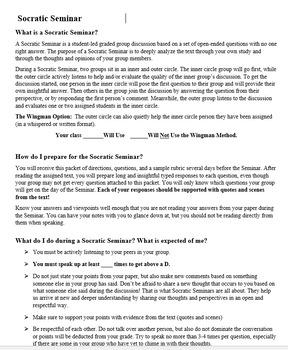 To Kill a Mockingbird Socratic Seminar for High School English