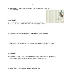 To Kill a Mockingbird Study Guide with Vocab List