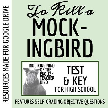 To Kill a Mockingbird Test & Key (Common Core Aligned)