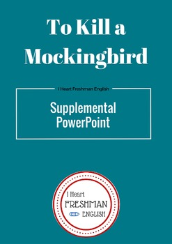 To Kill a Mockingbird Southern Background PowerPoint & Notes Sheet