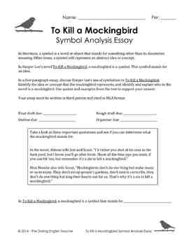 To Kill A Mockingbird Symbol Analysis Essay With Esl Support  Tpt To Kill A Mockingbird Symbol Analysis Essay With Esl Support Business Plan Writers Greenville Sc also Topics For English Essays  Professional Article Writing Service