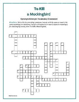 To Kill a Mockingbird: Syno... by Word-Wise Language Arts ...