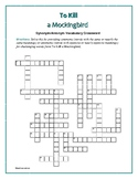 To Kill a Mockingbird: Synonym/Antonym Vocab Crossword—Use with Bookmarks Plus!