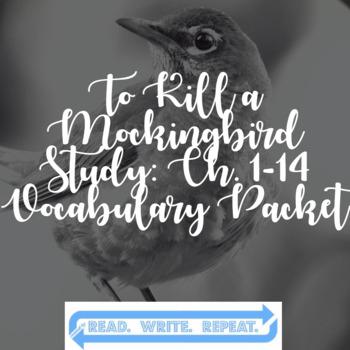 To Kill a Mockingbird/TKAM Chapters 1-14 Vocabulary Packet