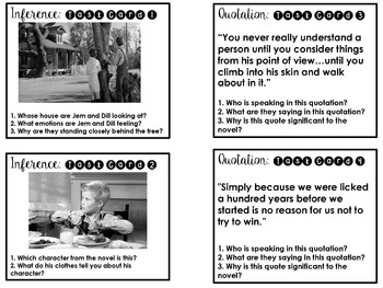 To Kill a Mockingbird Task Cards