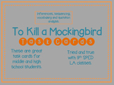 To Kill a Mockingbird Task Cards