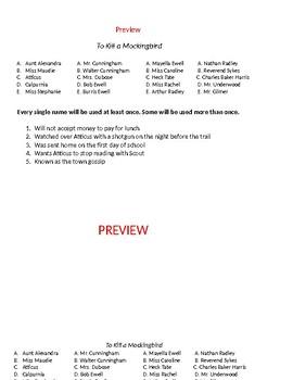To Kill a Mockingbird Test  100 questions