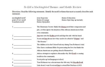 To Kill a Mockingbird Themes and Motifs Review
