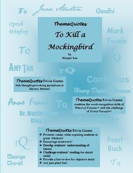 To Kill a Mockingbird Trivia Game—Not Your Typical Trivia Game!