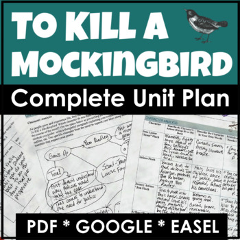 To Kill a Mockingbird Complete Unit Plan With Lesson Plans and Activities