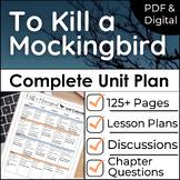To Kill a Mockingbird Unit Plan as a Novel Study