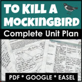 To Kill a Mockingbird Distance Learning Unit Plan and Nove