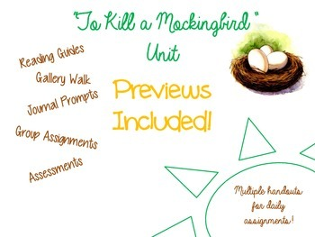 """To Kill a Mockingbird"" Unit Bundle"