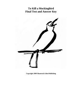 To Kill a Mockingbird Unit Exam and Answer Key