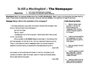 To Kill a Mockingbird Unit Materials