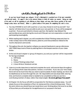 To Kill a Mockingbird Unit Plan