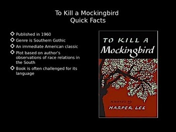 To Kill a Mockingbird Unit PowerPoint