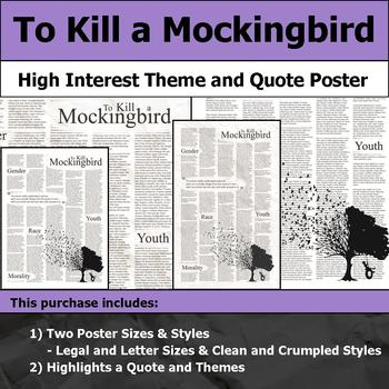 To Kill a Mockingbird - Visual Theme and Quote Poster for Bulletin Boards