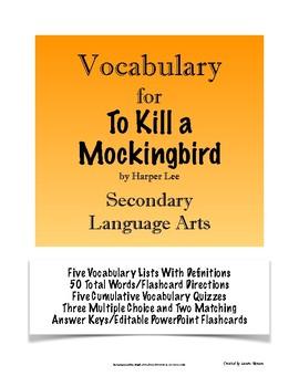 To Kill a Mockingbird - Vocabulary