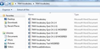 To Kill a Mockingbird Vocabulary COMPLETE