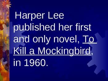 To Kill a Mockingbird Vocabulary PowerPoint