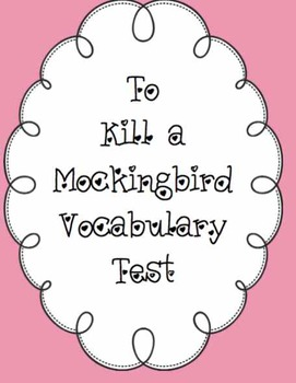 To Kill a Mockingbird Vocabulary Test